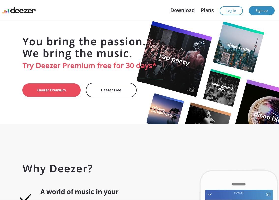 Deezer - Clone image